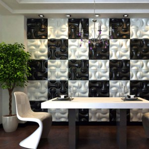 A10009 - Eco 3D Wall Art 1 Pack 12 Tiles 32.29 sq.ft