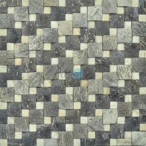 A14008 - Natural Coconut Mosaic 11 Panels 10.66 Sq.Ft