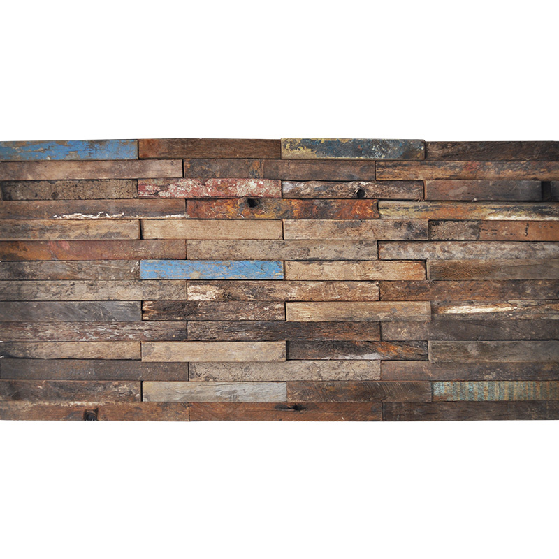 A15102 - Recycled Wood 3D Design 1 Box 2 m² - Recycled Wood 3D Design Decorative Wood Panels 1 Box 2 M²