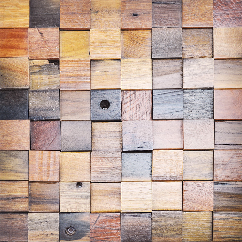 Recycled Wood Wall Panel Wooden Decorative Panels 10.66 Sq.Ft