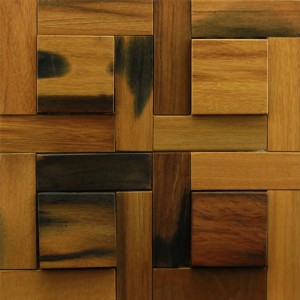 A15010 - Recycled Wood Wall System Tile 10.66 Sq.Ft