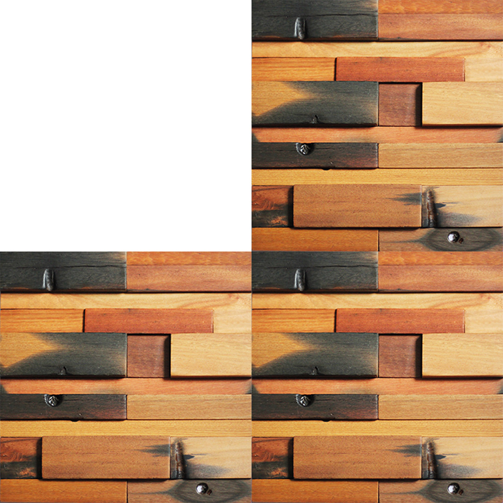 A15001 - Reclaimed Wood Wall Tile 1 Box 10.66 Sq.Ft - Reclaimed Wood Wall Tile For Interior Wall Design 11 Panels 10.7 Sq.Ft