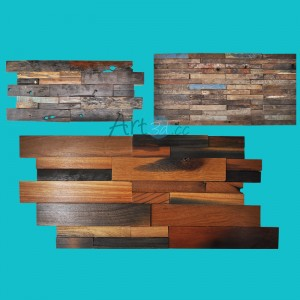 A15902 - Reclaimed Wood Wall Tile Sample 60x30cm