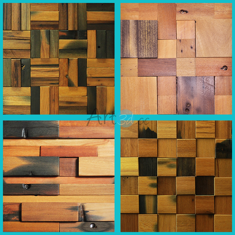 A15901 - Reclaimed Wood Wall Tile Sample 30*30cm - Reclaimed Wood Wall Tile Samples