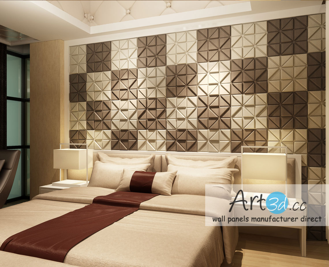 Gentil Decorative Wall Tiles For Bedroom. Leather Tiles In Bedroom Wall Design  Decorative For Art3d