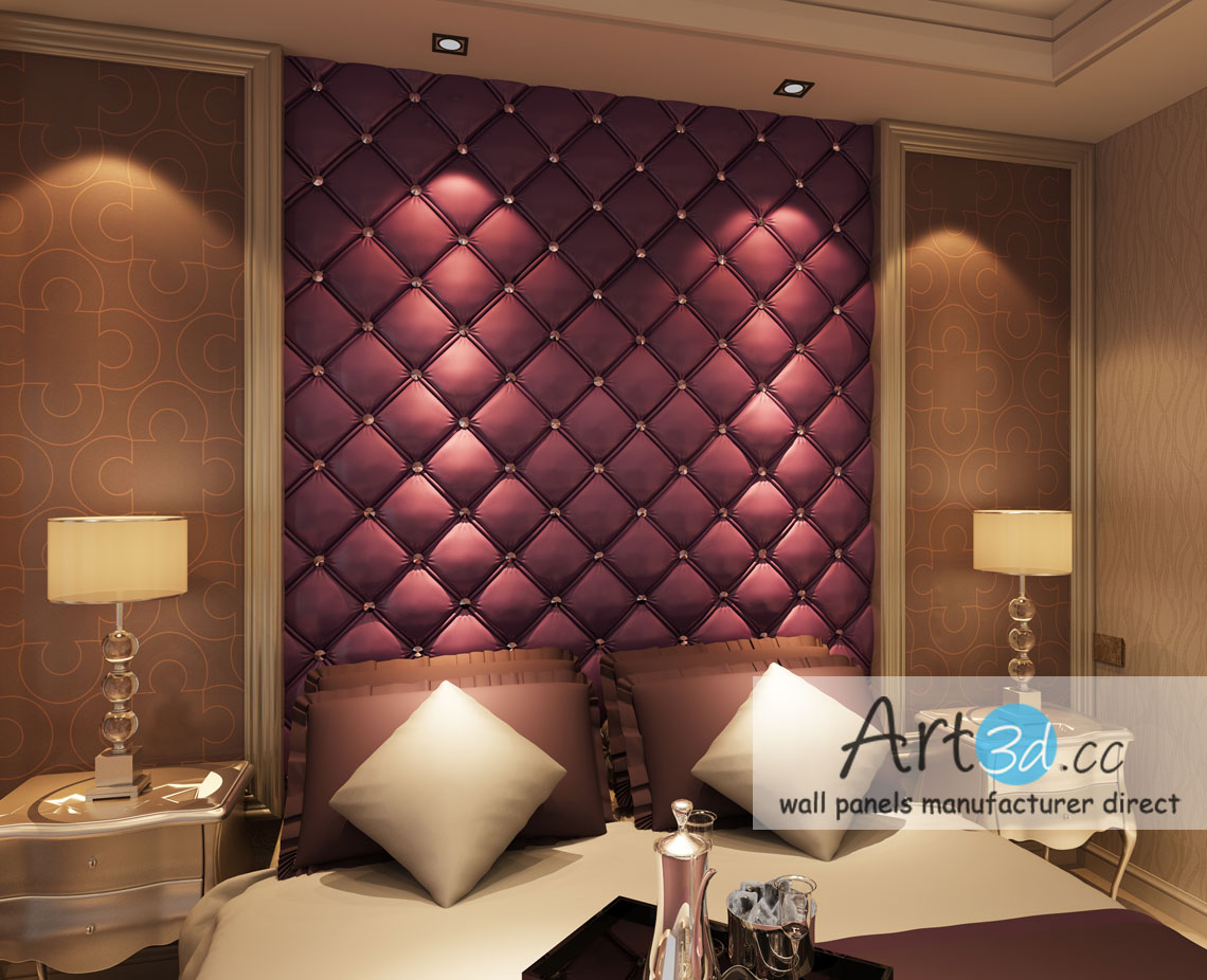 Leather Tiles In Bedroom Wall Design. Bedroom