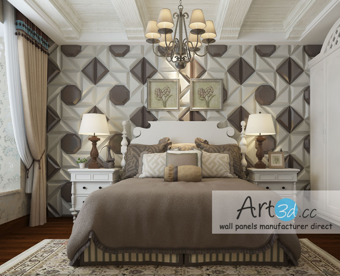 Bedroom Wall Design. Leather Tiles In Bedroom Wall Design S