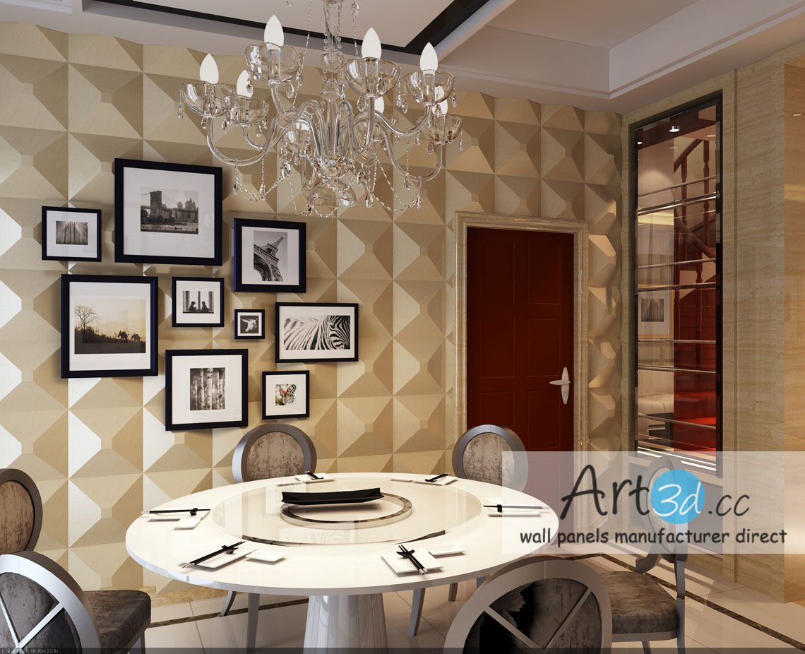 Dining room wall design ideas for Room decoration images