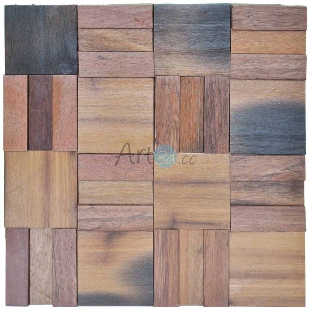 A15015 - 3D Wood Mosaics Tiles 1 Box 10.66 Sq.Ft