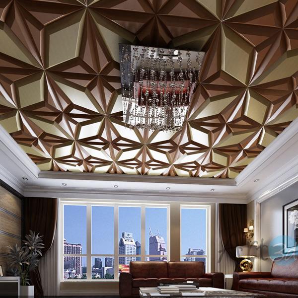 A12009 - Faux Leather Ceiling Mosaic 1 Set of 5 Tiles 0.36 M² (1 Set)
