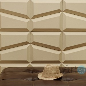 A12010 - Faux Leather Wall Tiles (1 Piece)