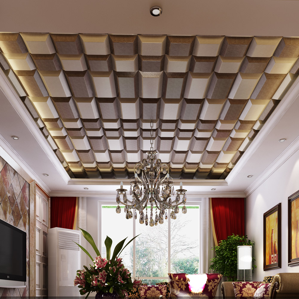 Luxury ceiling wall panel 3d wall coverings pu material 30x60cm dailygadgetfo Choice Image