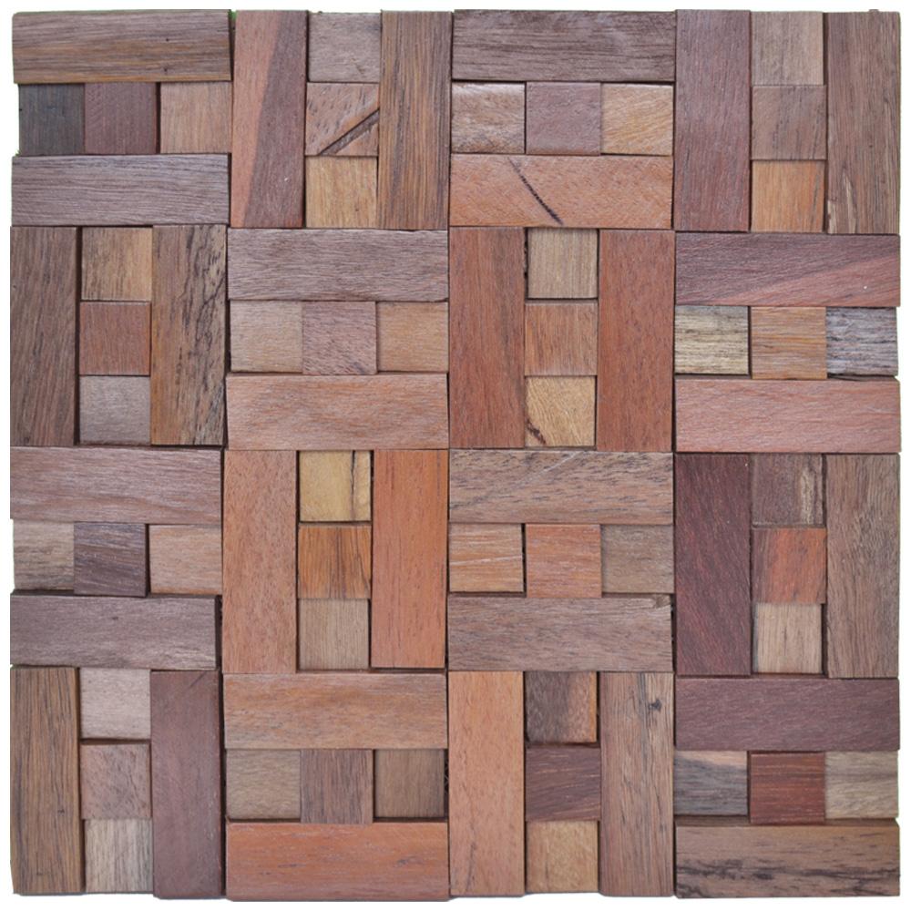 A15013 - Ancient Boat Wood Mosaic 1 Box 10.66 Sq.Ft