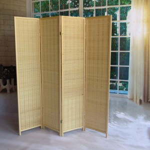 A42001 – Bamboo Folding Screen Walls 1 Set 4 Panels
