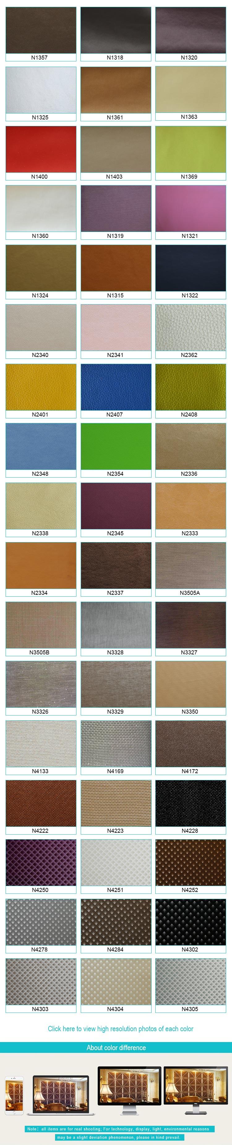 faux leather color option