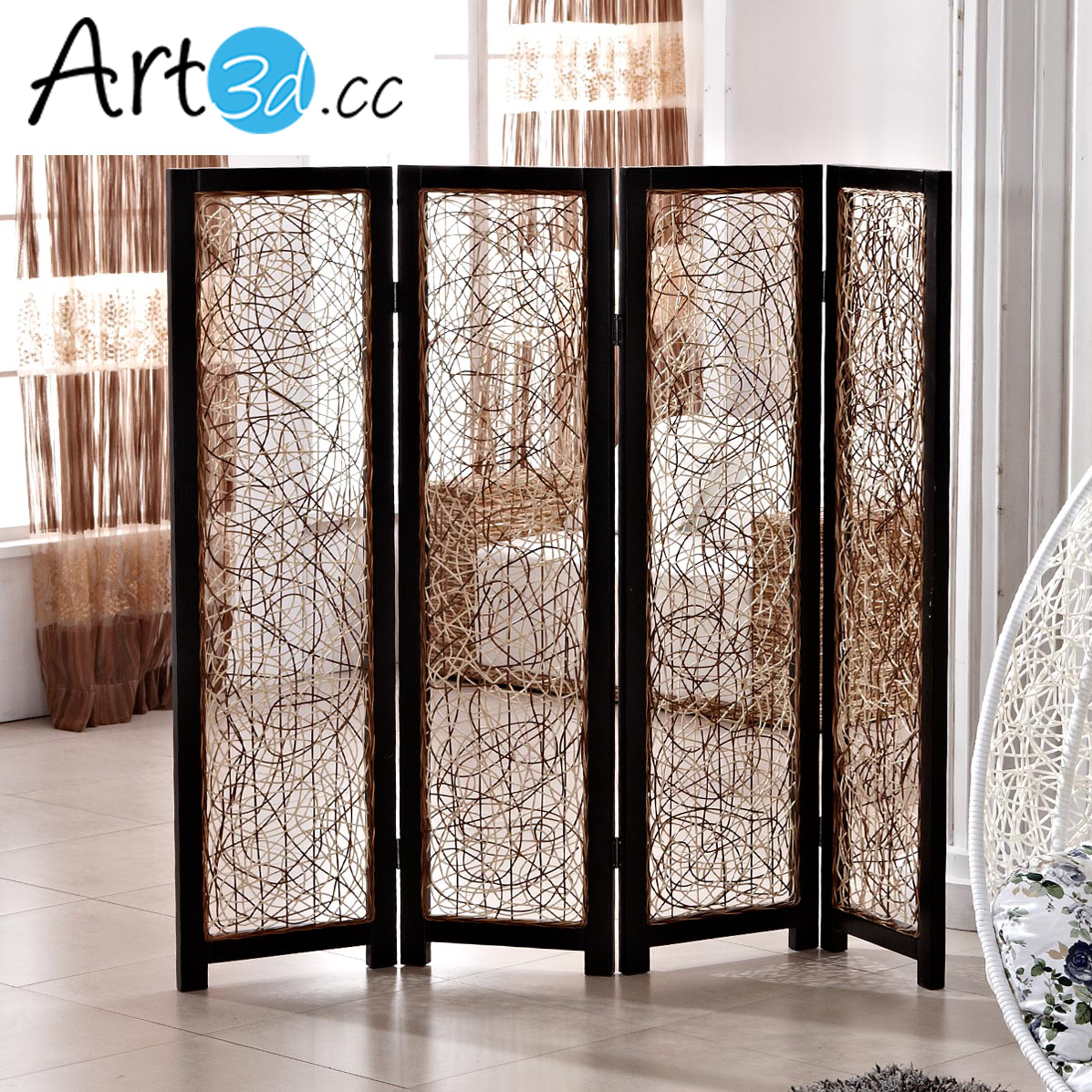 A42003 Folding Screen Walls 1 Set 4 Panels