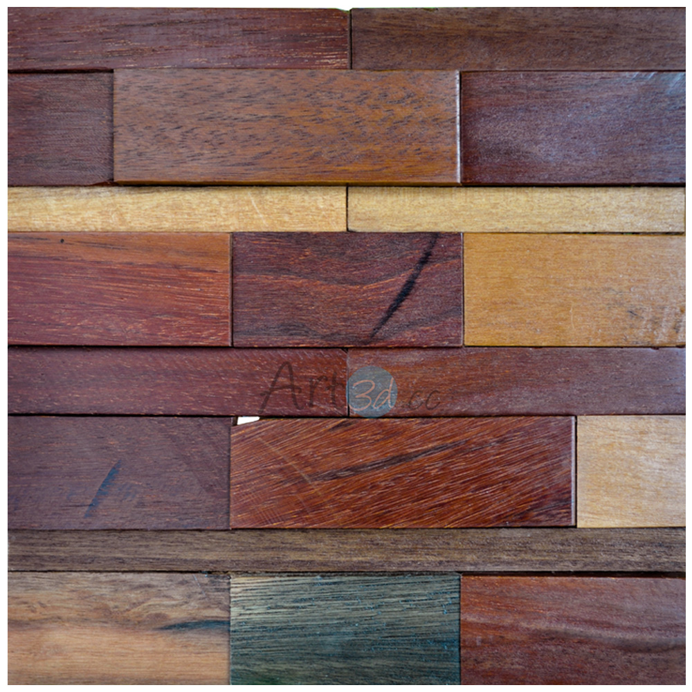 A15011 - Reclaimed Wood Art Design 1 Box 10.66 Sq.Ft - Reclaimed Wood Art Design Decorative Wood Panels 1 Box 10.66 Sq.Ft