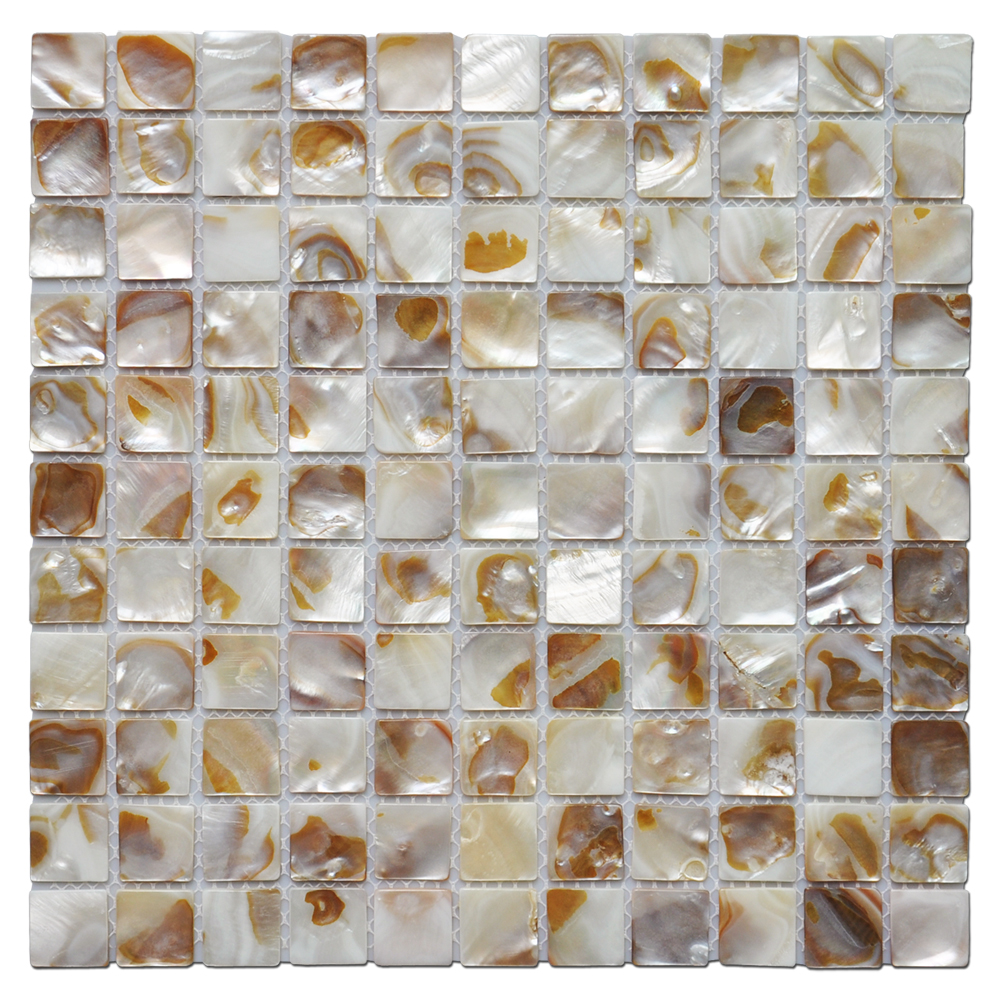 A18002 - Decorative Mosaic Tile Colorful River Bed Natural Pearl Shell Tile