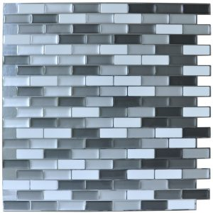 A17001 - Peel and Stick Mosaic Tiles 10 Pieces Kitchen Backsplash 9.5 Sq.ft