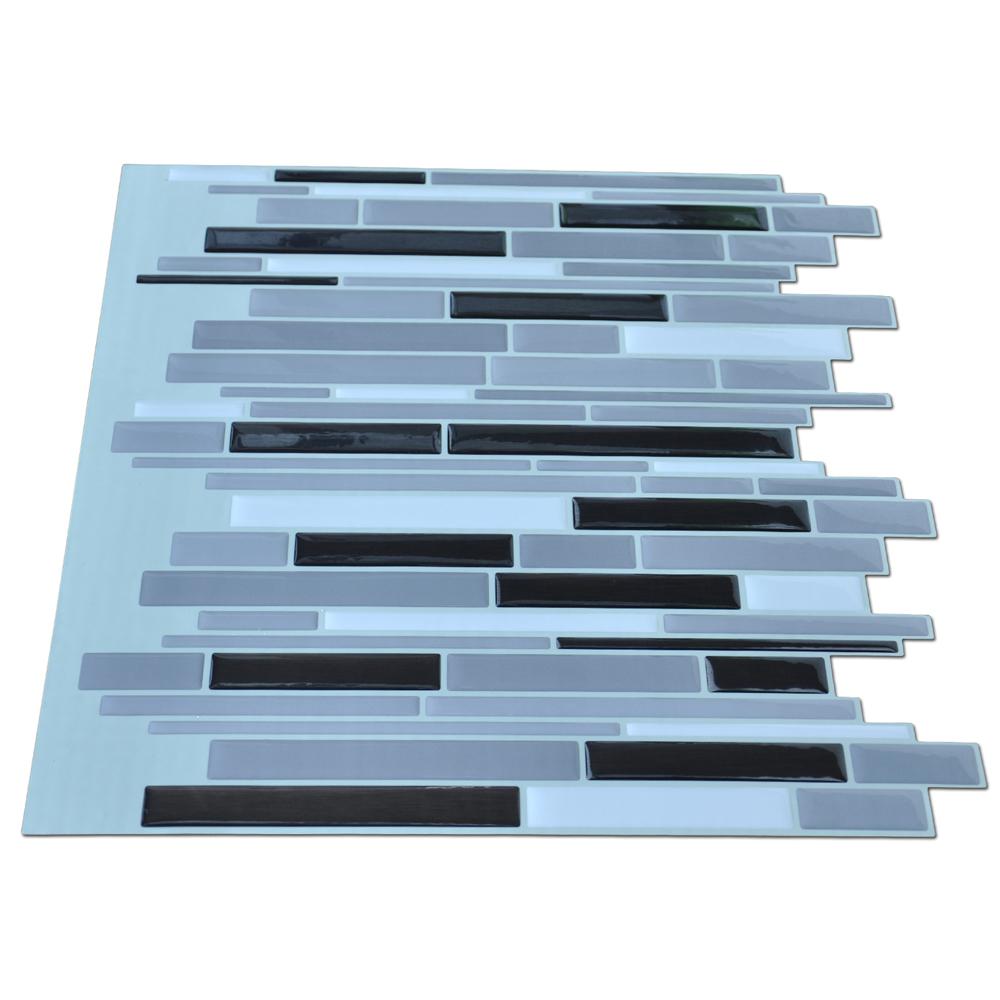 3D Sticker Wall Tile Peel and Stick Tile Backsplash 9.5 Sq.Ft