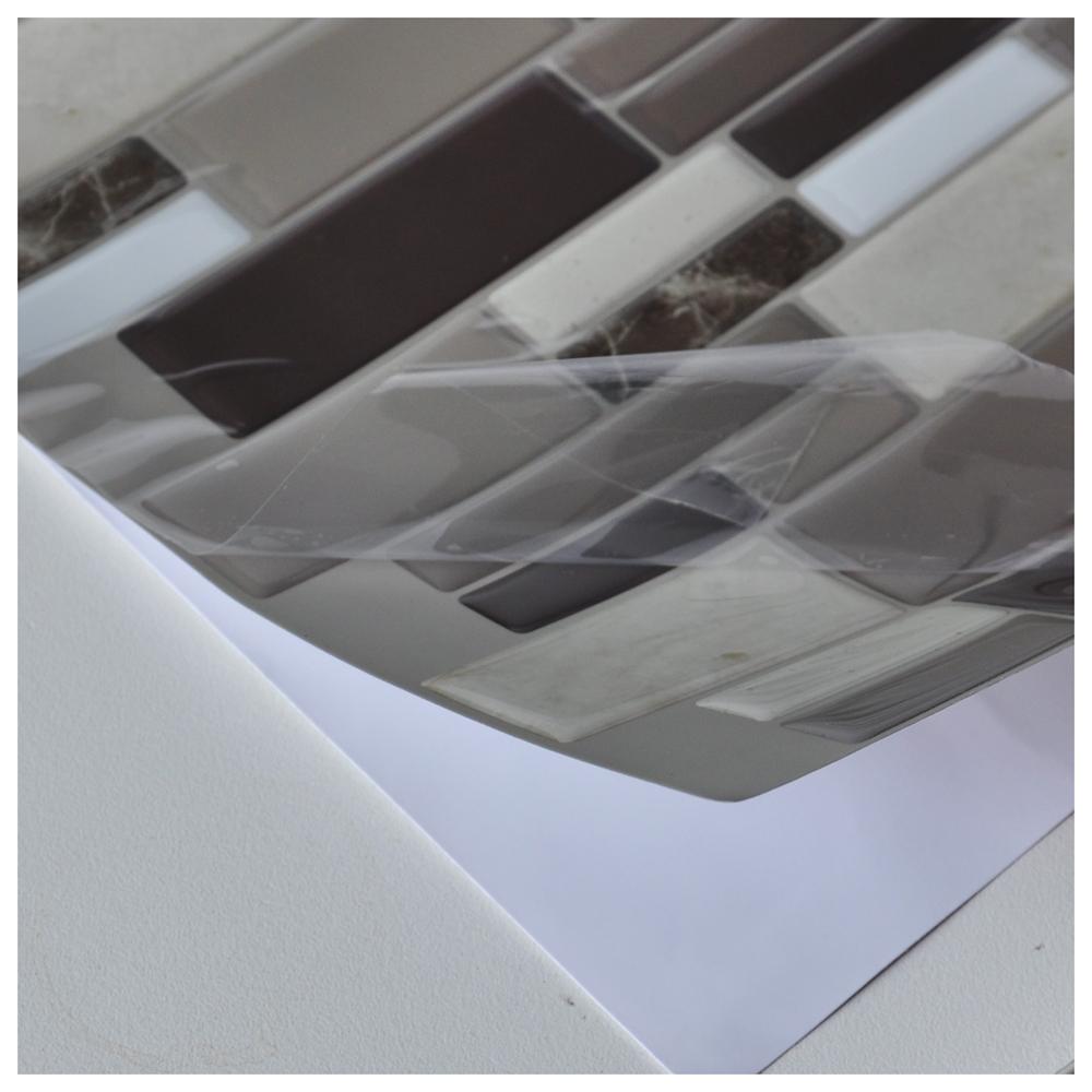 Peel-n-Stick Tile Backsplash Bathroom Wall Tiles