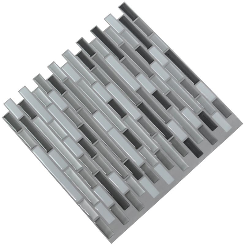 Peel and stick backsplash over existing tile