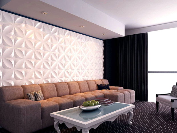 Interior Wall Design With 3d Wall Panel 3d Wall Panel 4