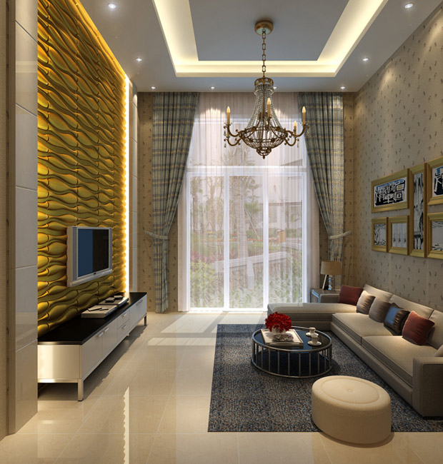 Interior Wall Design With 3d Wall Panel 3d Wall Panel 7. Living Room ...