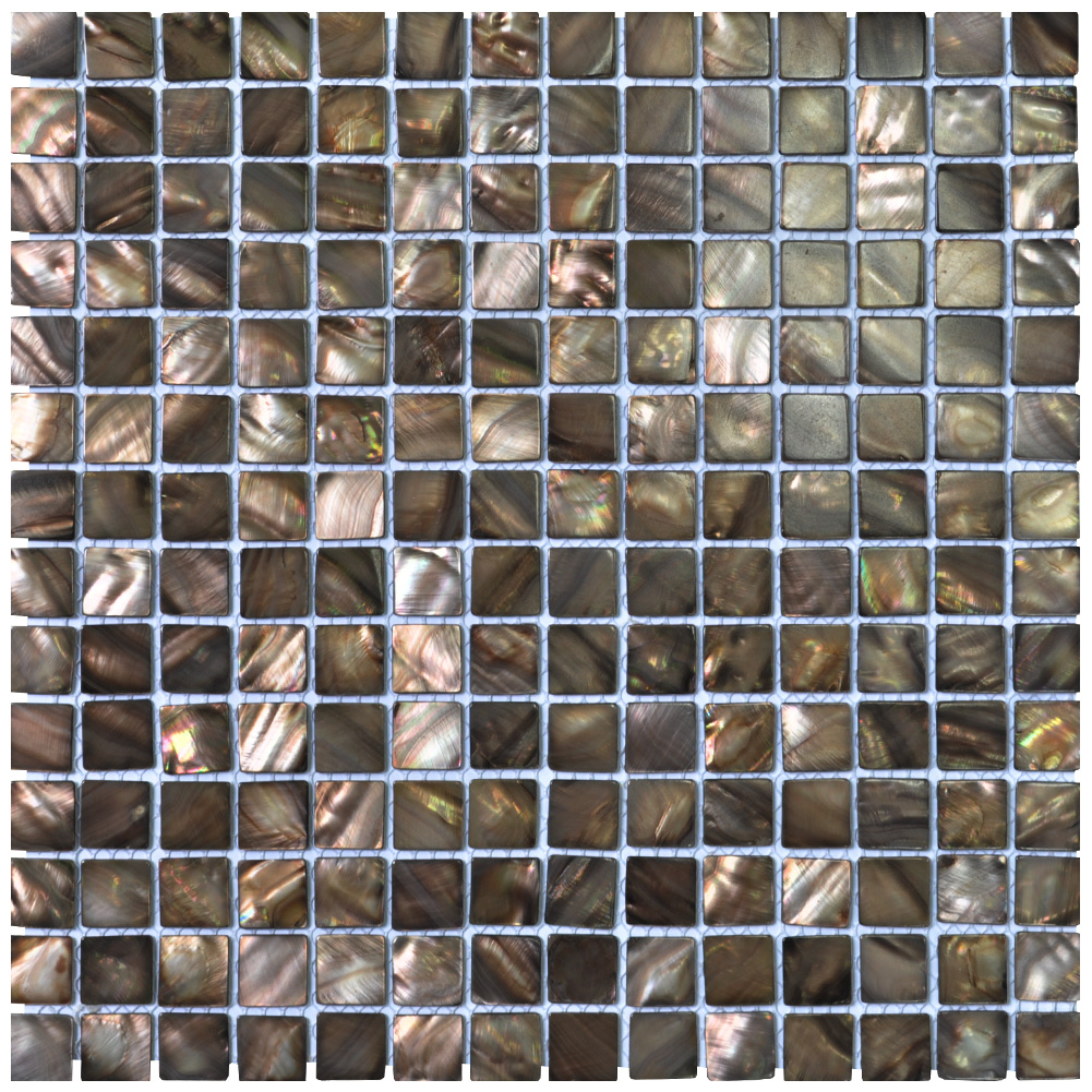 A18018 - Mother of Pearl Shell Mosaic Tiles for Bathroom Backsplash, Coffee