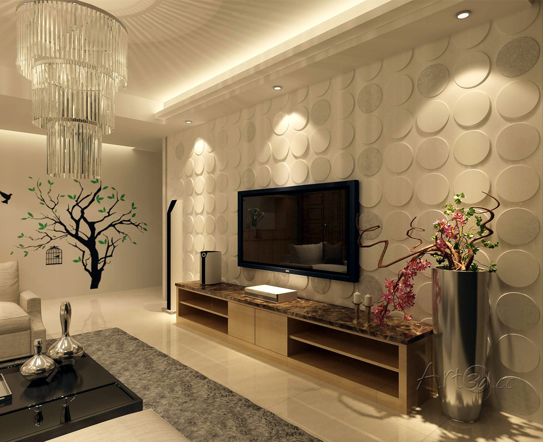 TV Wall Panels Background 3D