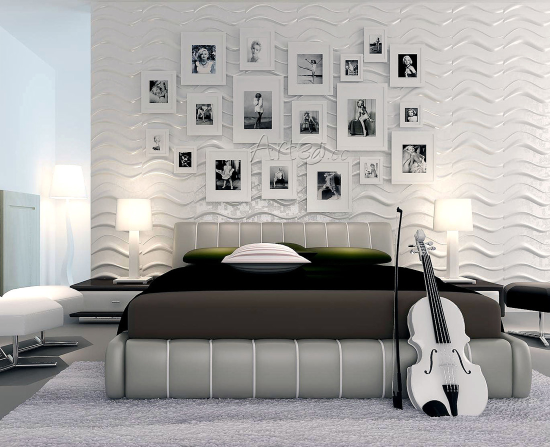 Living room wall panels for 3d wallpaper for bedroom