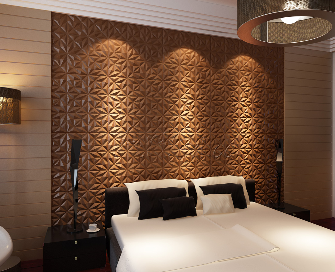 10 templates to inspire your bedroom wall ideas for Bed wall design
