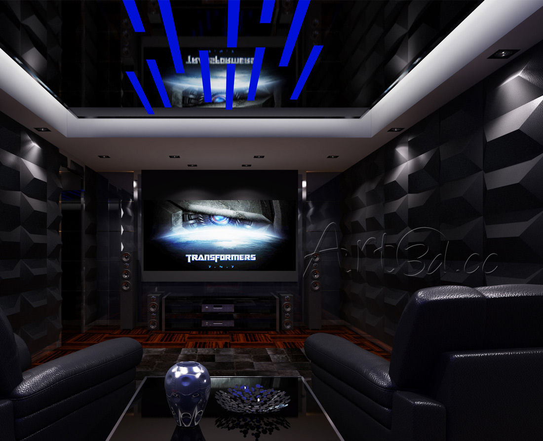 Living room home theatre wall ideas amipublicfo Images