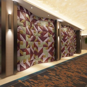 A12020 - Tangram Leather Panel for Interior PU Soft Wall Covering 12x24In(1 Piece)