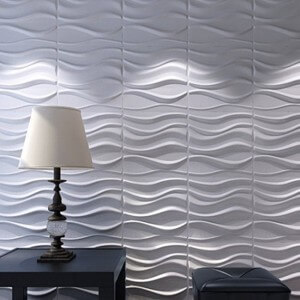 a21031 3d wall panels plant fiber white for interior decor 12 pcs 32 sq - Decorative Wall Panels