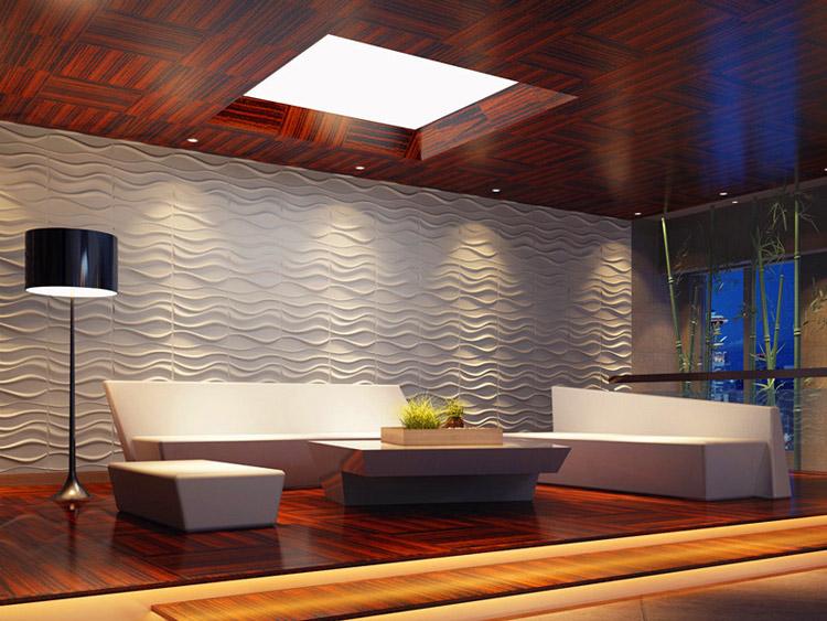 3D Wall Panels Plant Fiber