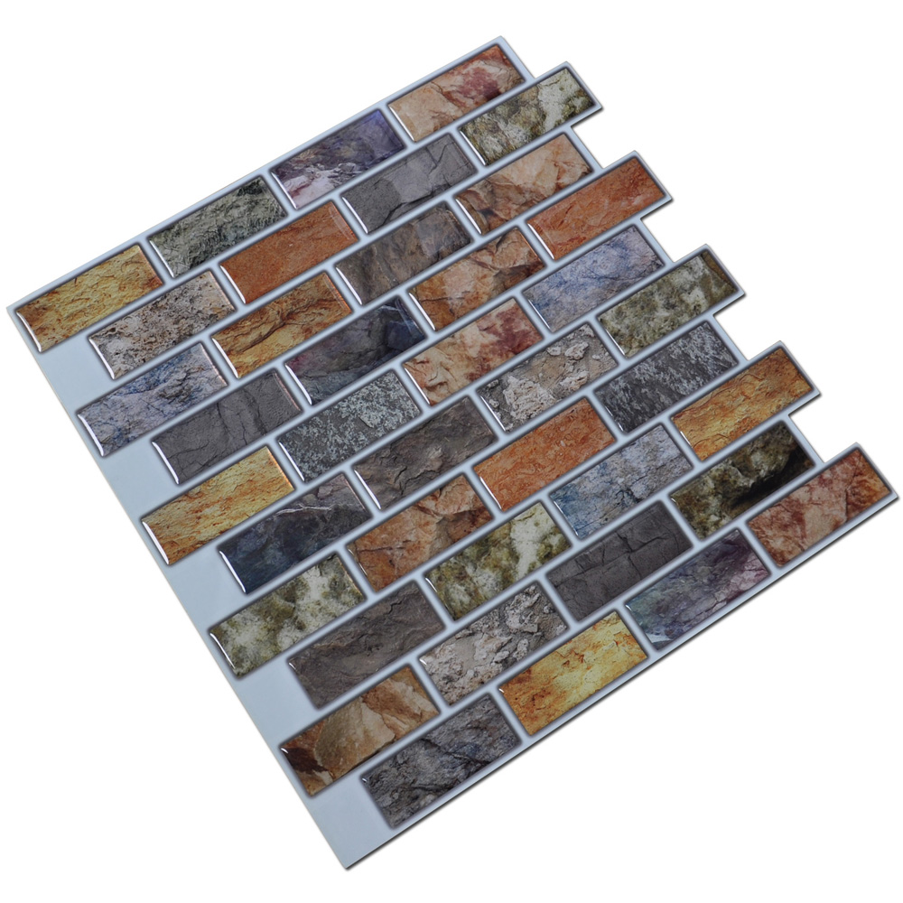 Self adhesive mosaic tile backsplash color subway tile for Self adhesive subway tile backsplash