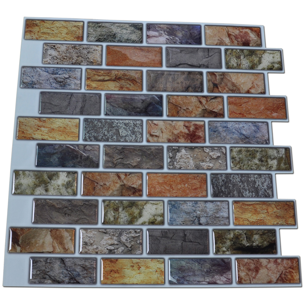 Fantastic 16 Ceramic Tile Tall 24 X 24 Ceiling Tiles Square 3X6 Ceramic Tile Adhesive Backsplash Tiles Kitchen Young Adhesive Floor Tile SoftAllure Flooring Over Tile Self Adhesive Mosaic Tile Backsplash Color Subway Tile, Set Of 6