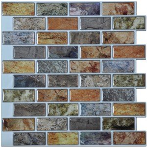 A17014P6 - Art3d Peel and Stick Kitchen Backsplash Tile 12in x 12in Pack of 6 Sheets