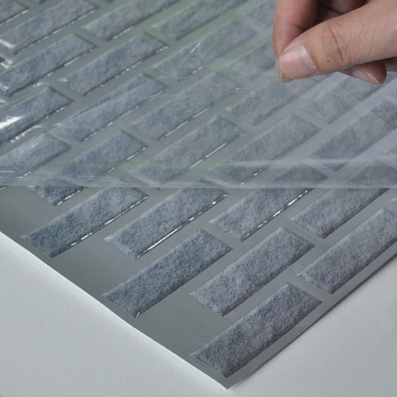 brick vinyl wall tiles 11 2 x 12in peel and stick backsplash 9 5 sq ft