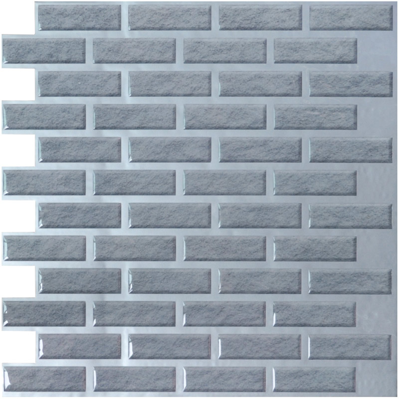 A17010   Brick Vinyl Wall Tiles 11.2 X 12In Peel And Stick Backsplash 9.5