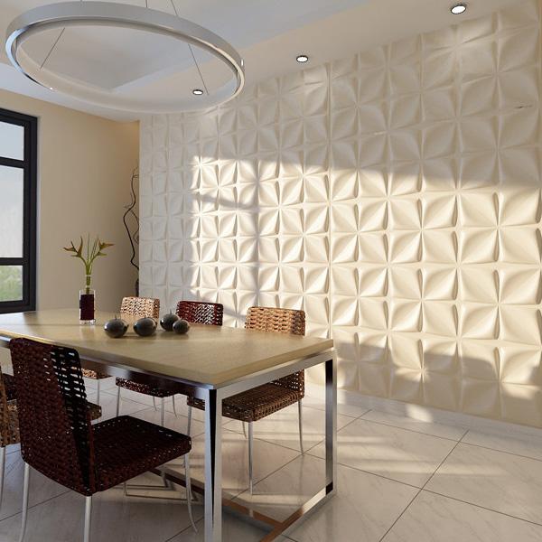 A21030 - Decorative 3D Wall Panels Cornus Angustata Design, 12 Tiles 32 SF