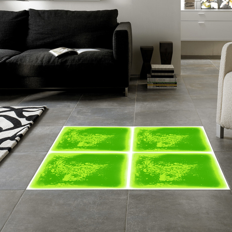 Colorful dance floor mat liquid encased floor tile 50cmx50cm for Floor mat design