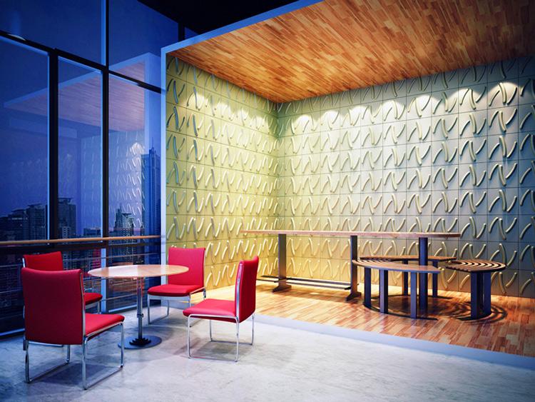 3D Wall Decor Panels Plant Fibers Material 1 Box 32 Sq.Ft