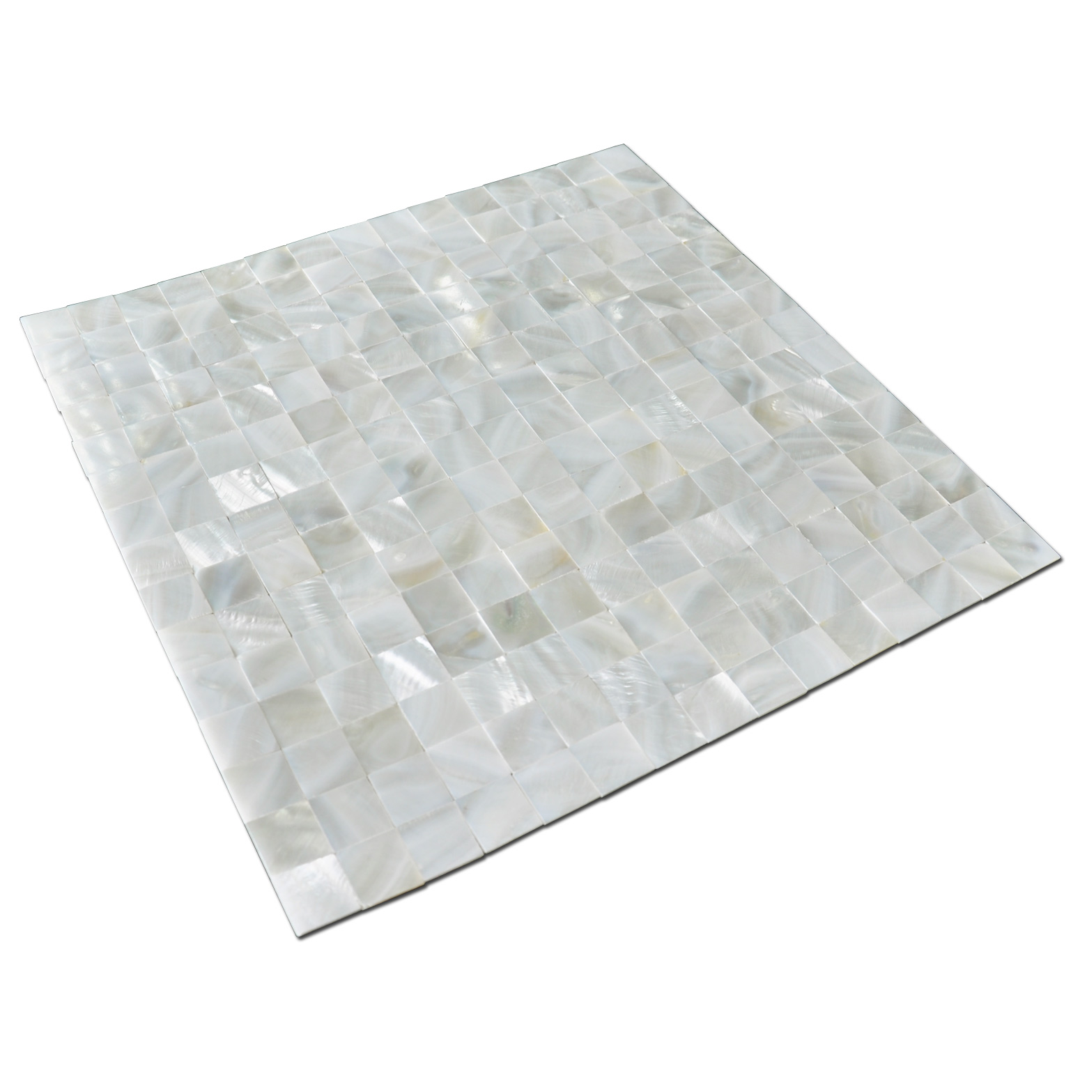 A18011 - Mother of Pearl Shell White Square Seamless Mosaic Tile, 12