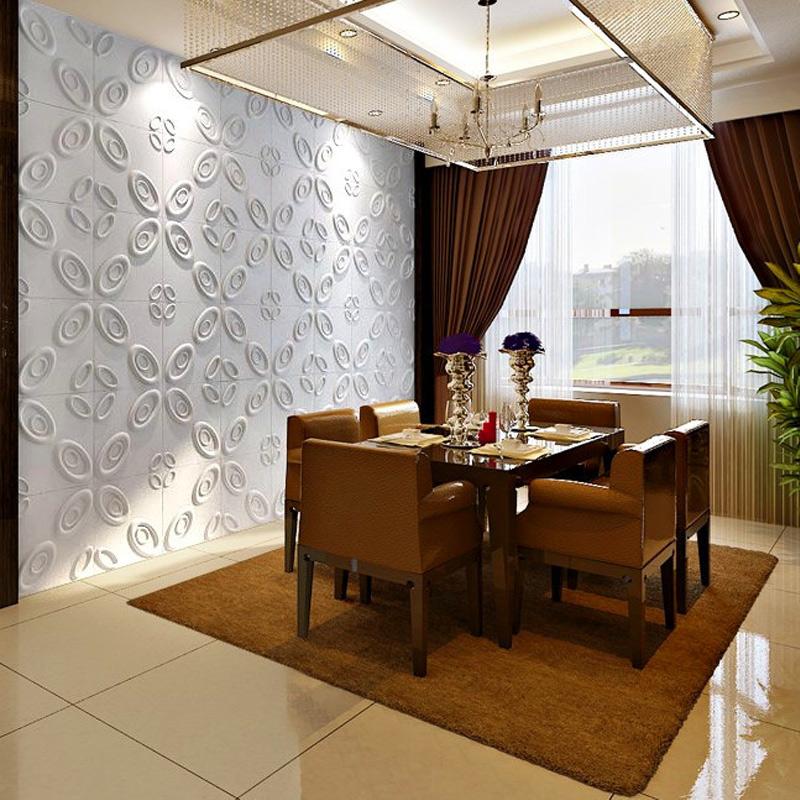 Eco Friendly 3D Wallpaper Plant Fibers Wall Panels 32 SqFt