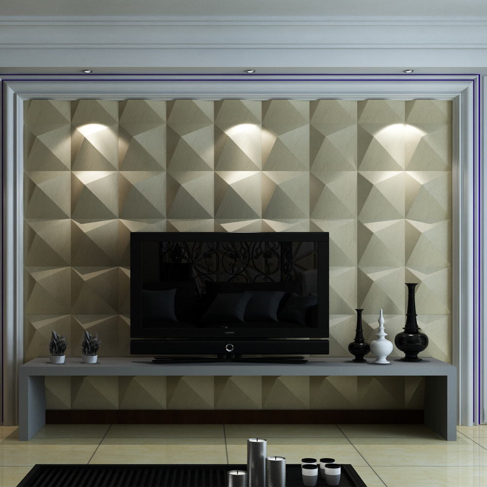Home leather wall panels modern leather tiles a12011 3d leather - A12026 Leather Look Wall Covering 3d Leather Wall Tile 118x118in1 Piece