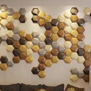 A12032 - Creative Leather Wall Small Tiles Hexagon Faux Leather Mosaic (1 Piece)