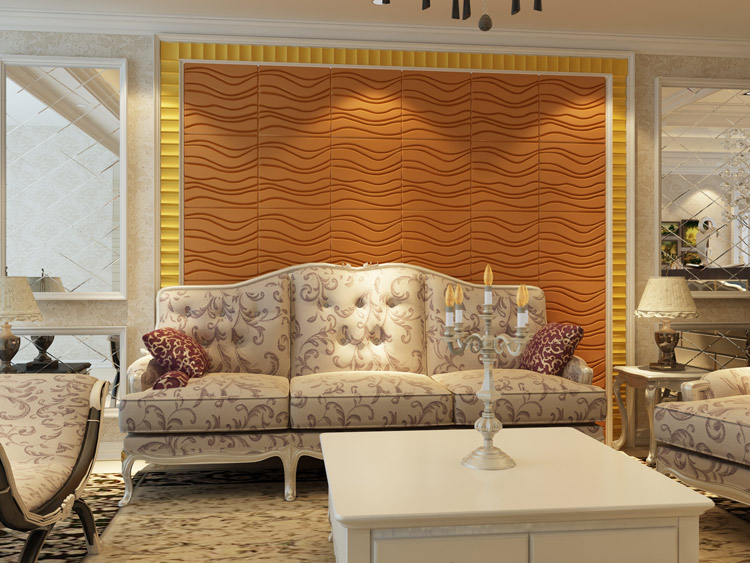 Modern Wave Leather Paneling