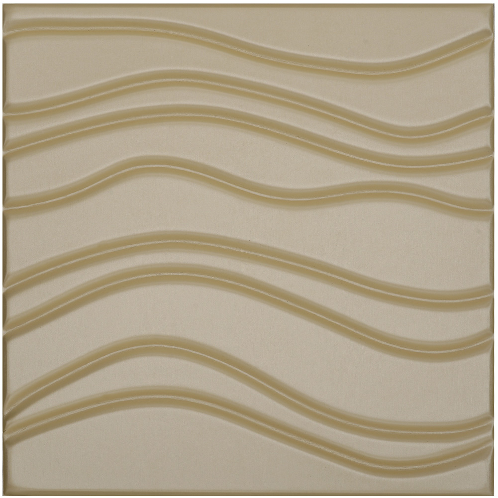 Modern Wave Leather Paneling Textured Soft Wall Tile 15.7x15.7In